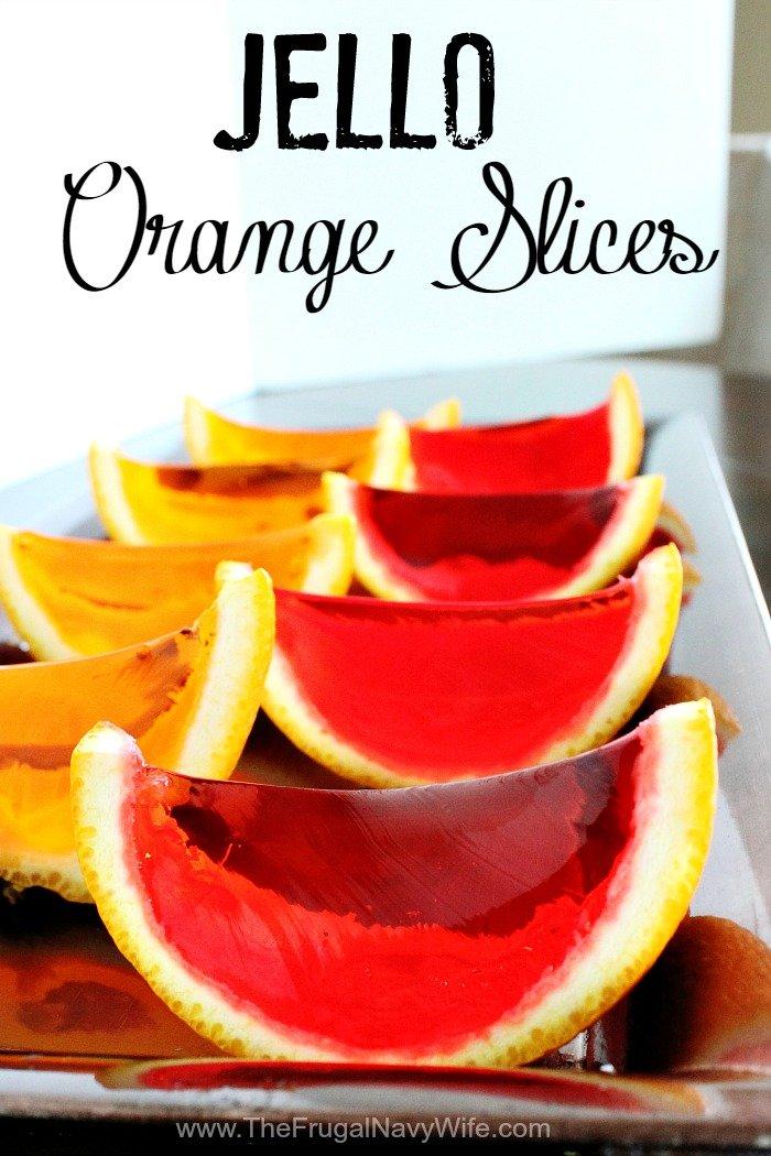 Jello Orange Slices Rows
