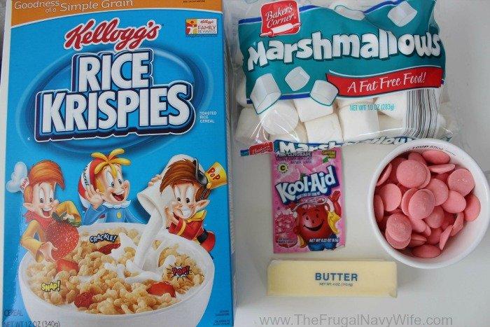 Pink Lemonade Rice Krispie Treats ingredients