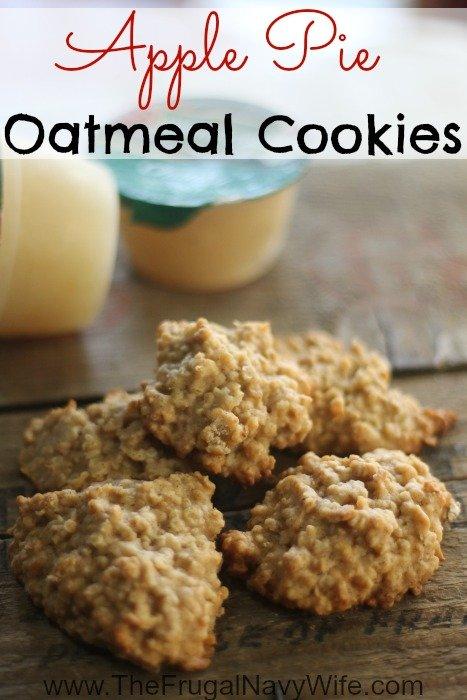 Apple Cookies - Apple Pie Oatmeal Cookie Recipe