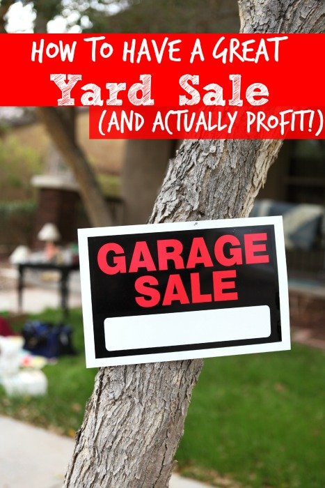 How to Have a Great Yard Sale (and actually profit!)