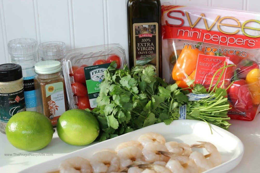 Southwestern Shrimp Skewers Ingrediants