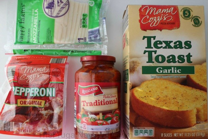 Grilled Pepperoni Pizza Sandwich Ingrediants