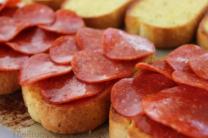 Grilled Pepperoni Pizza Sandwich Layer 1