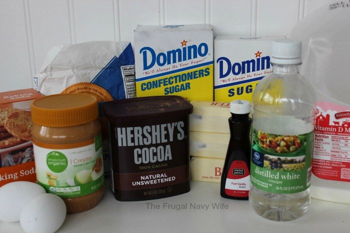 Peanut Butter Texas Sheet Cake Ingredients