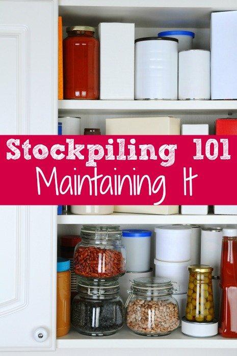 Stockpiling 101 Maintaining It