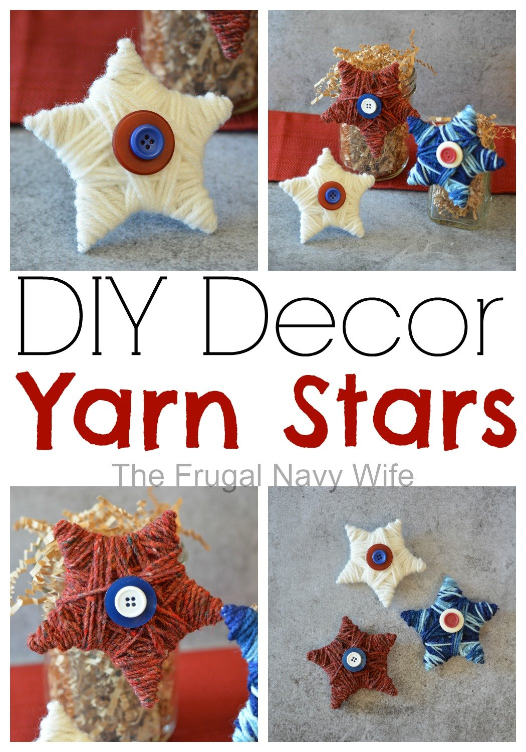 DIY Yarn Stars Decor