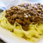 This Lazy Beef & Noodles is the perfect easy weeknight recipe! Simple to make and ready in just a few short minutes. Perfect last minute dinner recipe. #dinner #recipe #budgetmeal #frugalrecipe #easyweeknughtmeal #frugalnavywife | Dinner Recipe | Budget Meals | Easy Weeknight Meal | last Minute Dinner Ideas | Beef Recipes | Pasta Recipes