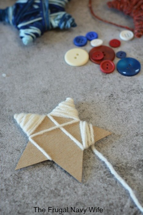 wrapping yarn star
