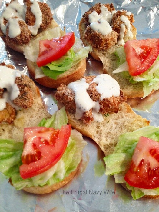 Fried Chicken Sliders with Asiago & Ranch Dressing