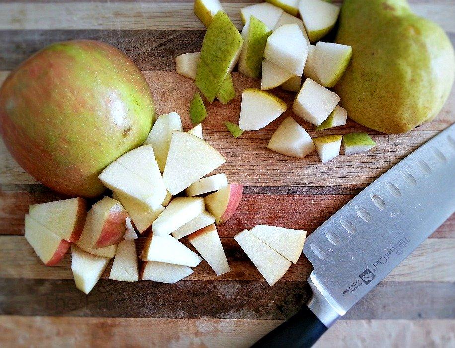 Apple Cider Sangria Chopped