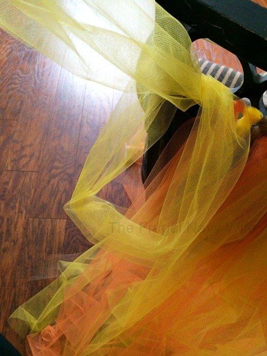 DIY Kids Tutu Scarecrow Costume Tie