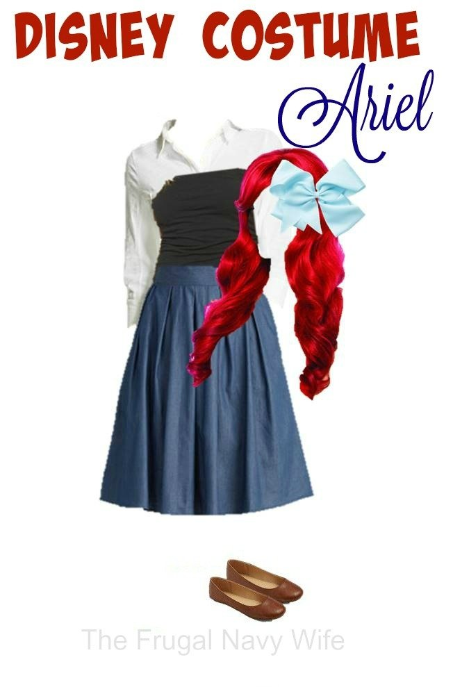Disney Women's Costume, Ariel - Made From Everyday Clothes