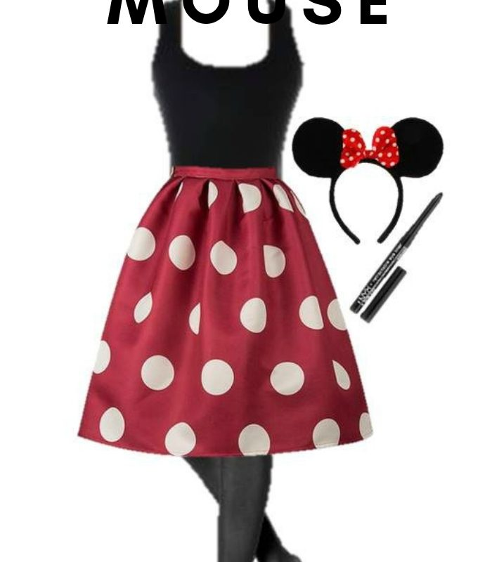 DIY Minnie Mouse Halloween Costume for Adults – With Everyday Clothes
