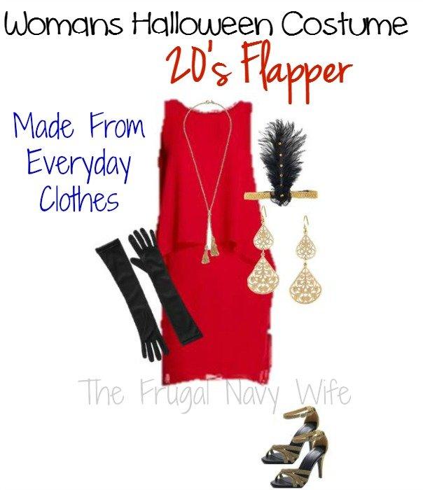 Womens' Halloween Costume, 20's Flapper
