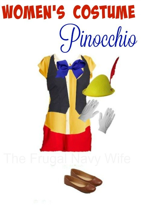 Women's Pinocchio Costume - Made From Everyday Clothes