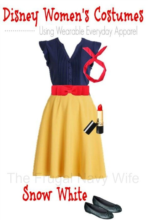 Women's Disney Snow White Costume – Made From Everyday Clothes