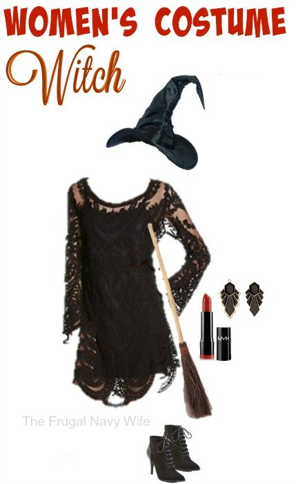 Women's Witch Costume – Made From Everyday Clothes