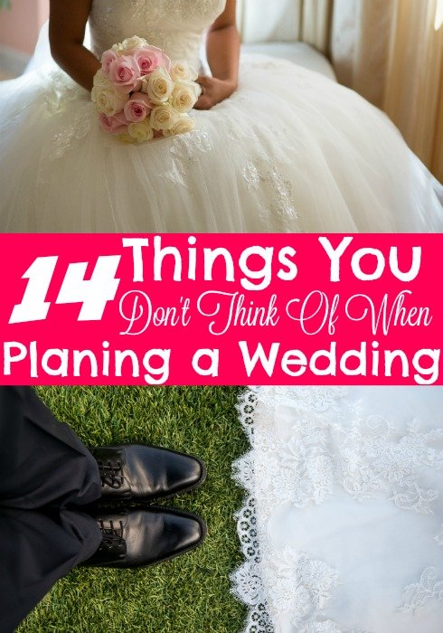 14 Things You Don't Think of When Wedding Planning