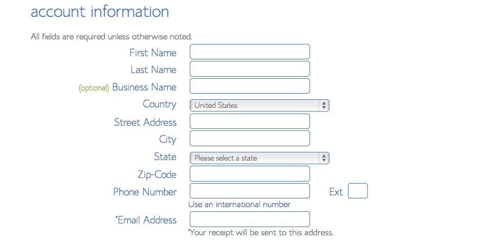 Blue Host Contact info