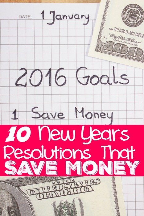 10 New Year Resolutions That Save Money