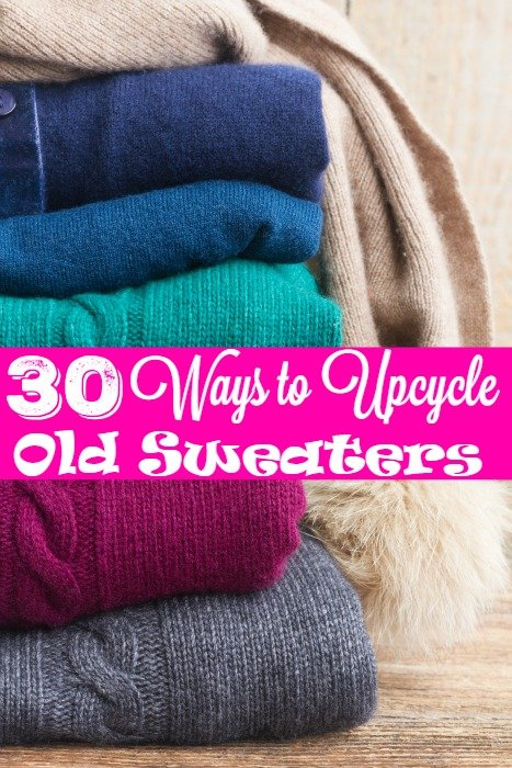 30 Ways to Upcycle Old Sweaters