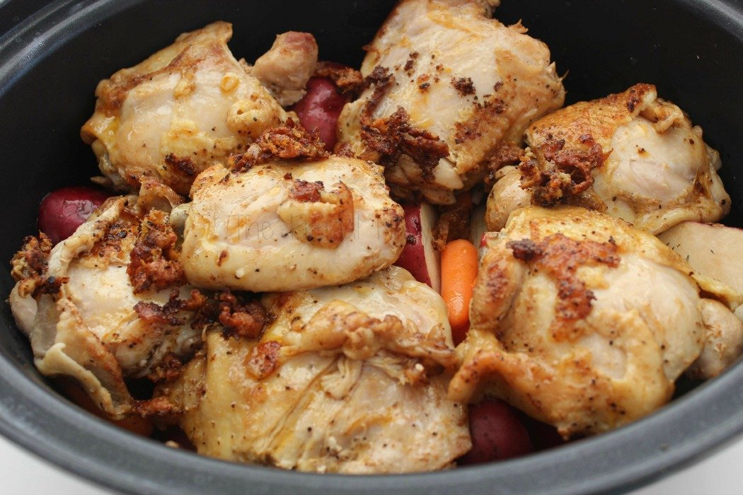Crock Pot Chicken Thighs with Potatoes & Carrots Layer 2