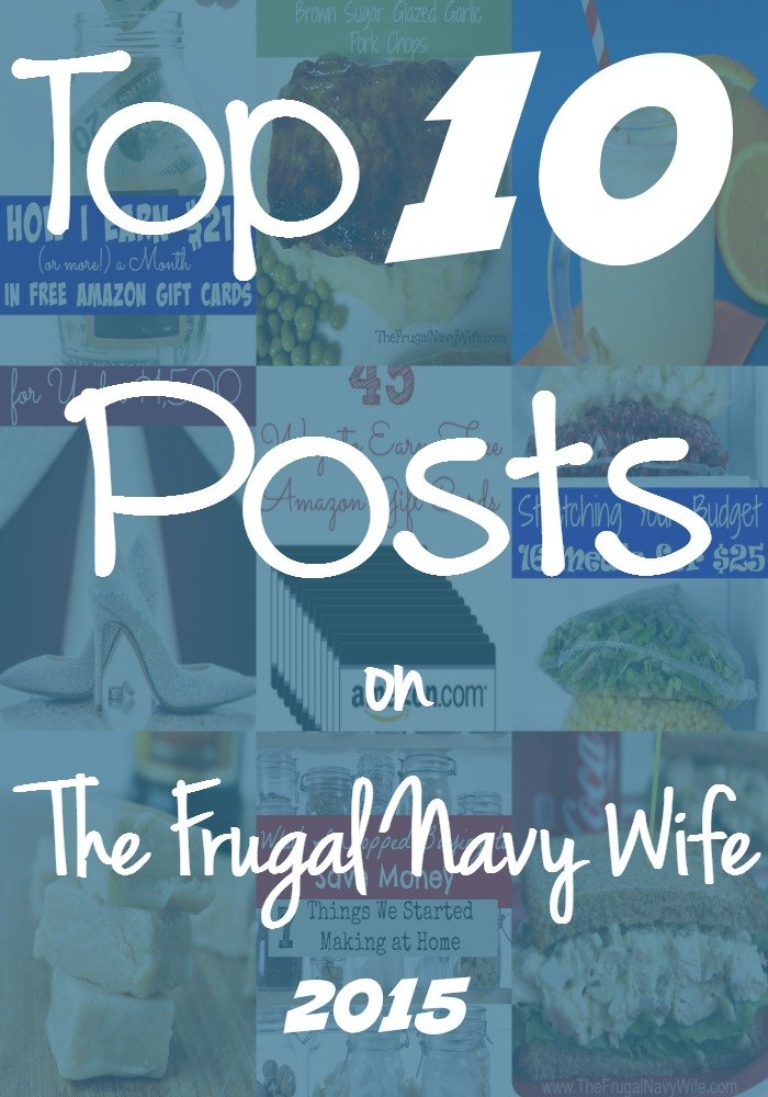 Top 10 Posts on The Frugal Navy Wife 2015