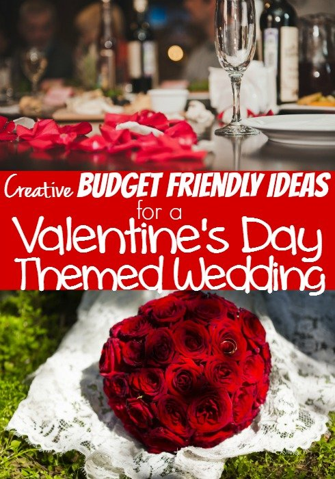 Budget Wedding Ideas for a Valentine's Day Themed Wedding