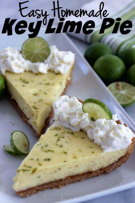 Easy Homemade Key Lime Pie