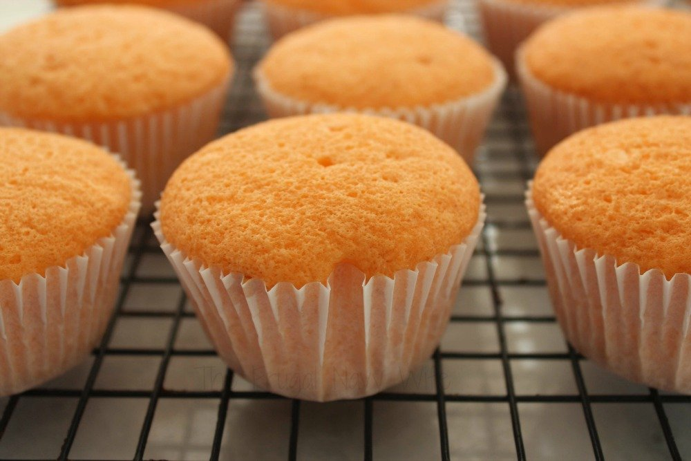Orange Crush Cupcakes No Frosting
