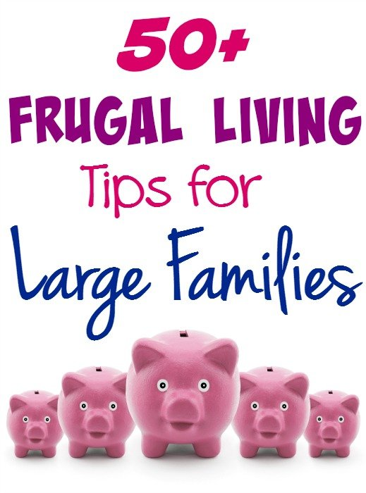 50+ Frugal Living Tips for Large Families