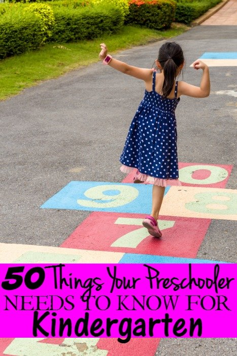 50 Things Your Preschooler Needs to Know for Kindergarten Readiness