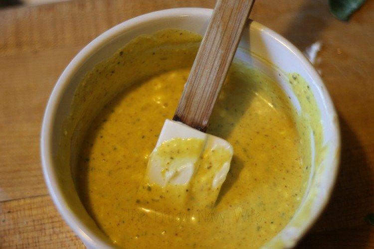 Rosemary Honey Mustard Chicken Mixing