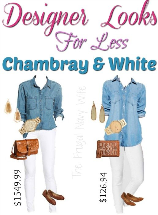 Designer Style for Less - Chambray and White