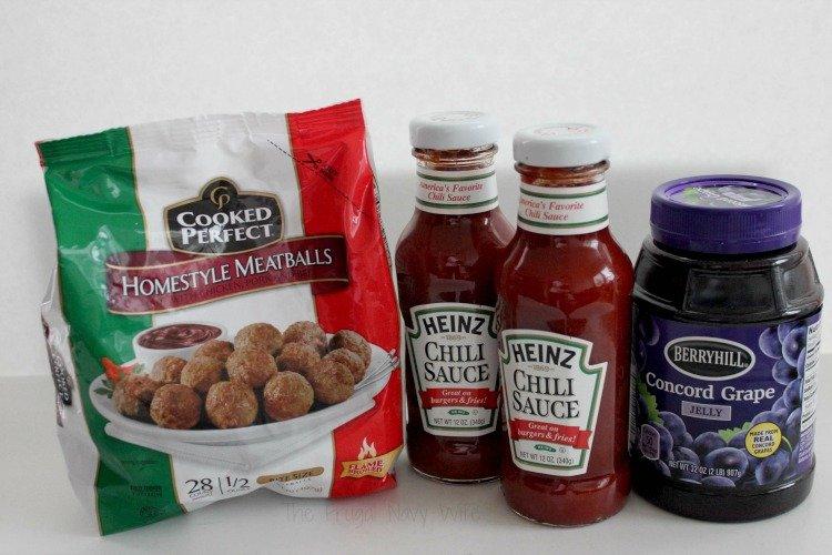 Easy Dinner Recipes - Slow Cooker Meatballs Ingredients