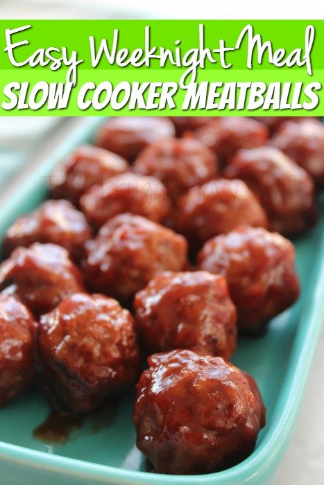 Easy Dinner Recipes – Slow Cooker Meatballs