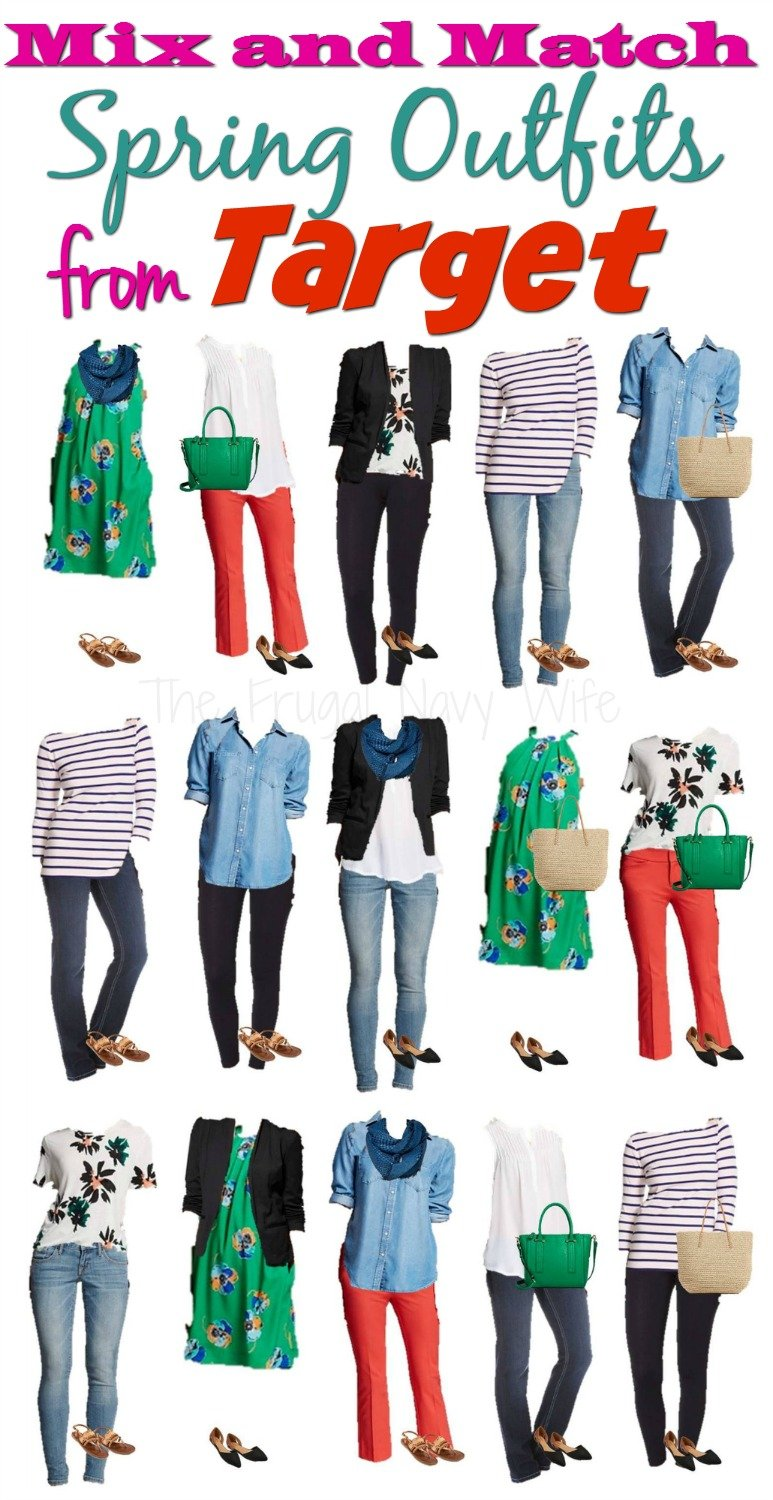 Mix and Match Spring Outfits from Target