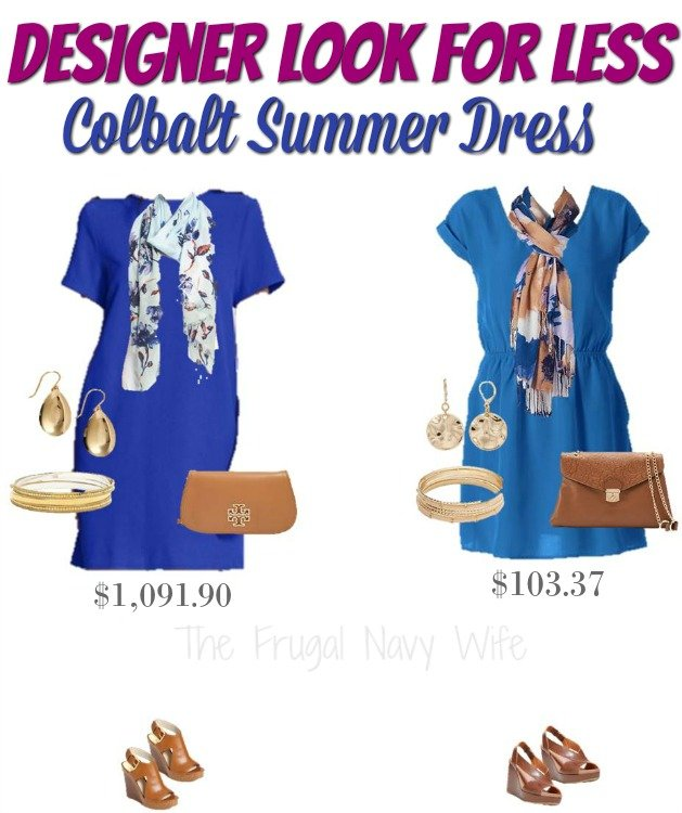 Designer Look for Less Cobalt Summer Dress