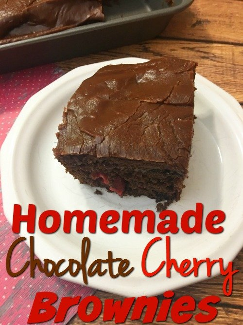 Homemade Chocolate Cherry Brownies