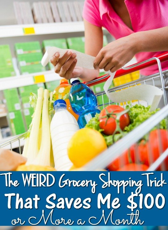 How to Save Money on Groceries - The Weird Grocery Shopping Trick that Saves Me $100 or More a Month