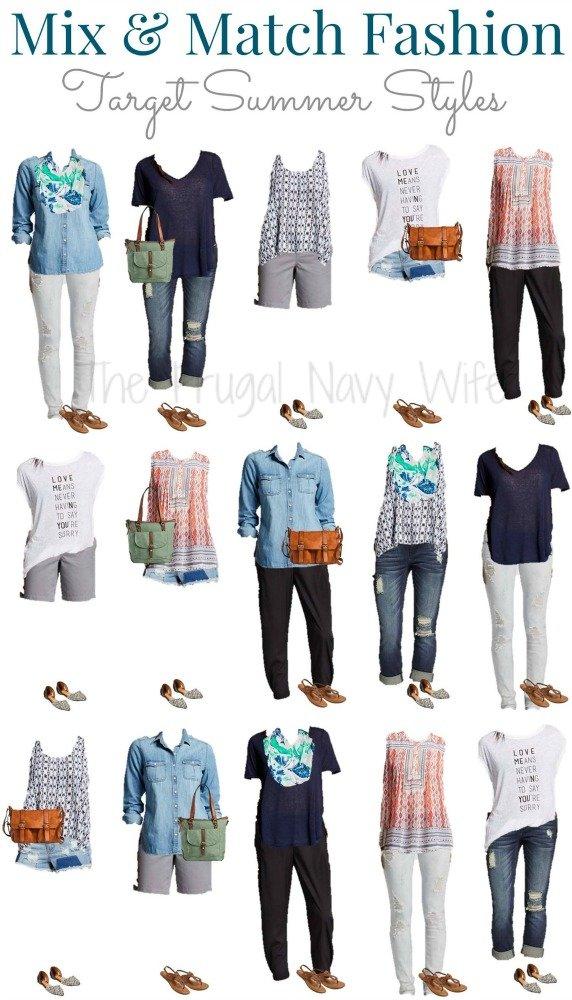 Mix & Match Target Summer Outfits