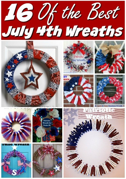 16 of the Best 4th of July Wreaths