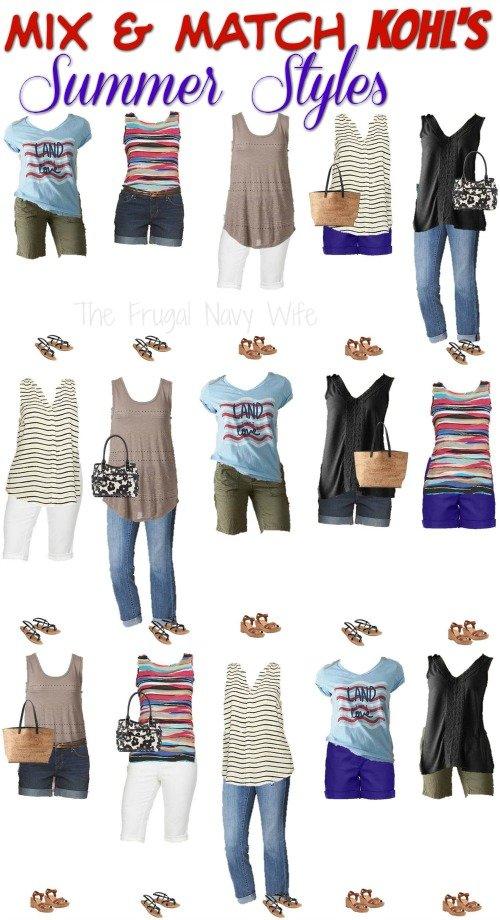 Mix & Match Kohls Womens Clothing Summer Styles