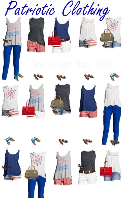 Mix & Match Target Patriotic Clothing