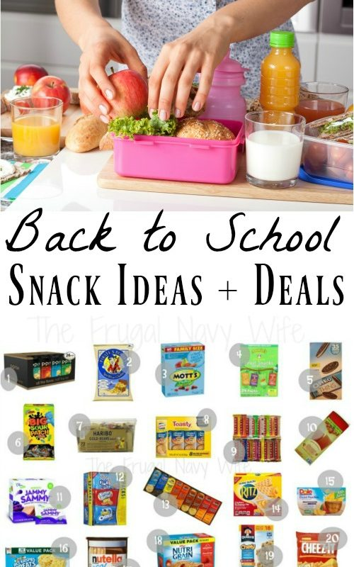 Back to School Snacks That Make Great School Lunch Ideas for Kids
