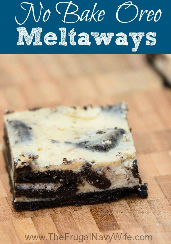 Oreo Dessert - No Bake Oreo Meltaways Recipe