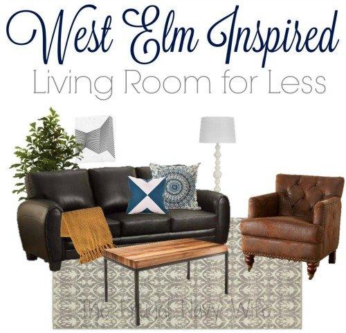 West Elm Modern Living Room for Less 2
