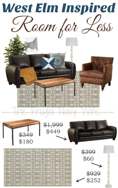 West Elm Modern Living Room for Less