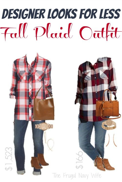 Designer for Less Autumn Outfits – Fall Plaid Outfit