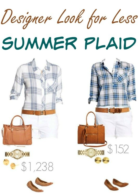 Designer for Less - Summer Plaid Outfit